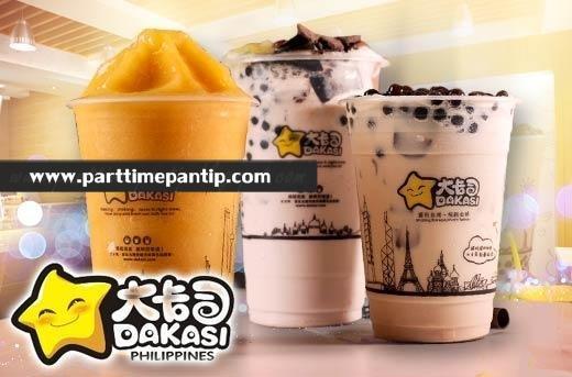 รับสมัคร งาน part time ร้านชานมไข่มุก (Dakasi) ชั่วโมงละ 40 บาท