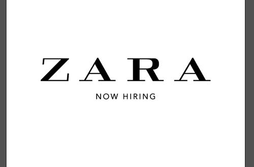 พนักงานขายเสื้อผ้าชั่วคราว (Part Time) ประจำร้าน ZARA สาขาในกรุงเทพฯ