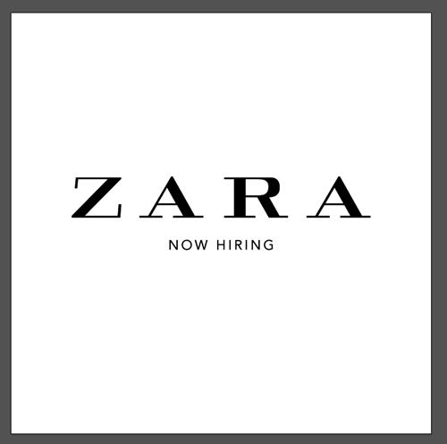 พนักงานขายเสื้อผ้า Part Time-Full Time ประจำร้าน ZARA สาขาในกรุงเทพฯ