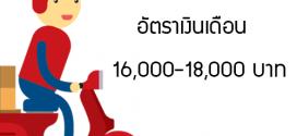 รับสมัครงาน แมสเซนเจอร์ (เดือนละ 16,000-18,000 บาท)