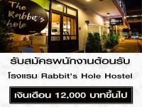 รับสมัครพนักงานต้อนรับ โรงแรม Rabbit's Hole Hostel