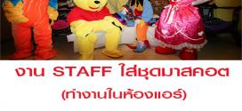 งาน STAFF ใส่ชุดมาสคอต (งานวันเกิด) BG : 700 บาท