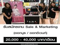 รับสมัครงาน Sale & Marketing