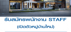 รับสมัครงาน STAFF เปิดตัวหมู่บ้านใหม่ (BG 1,000 บาท)