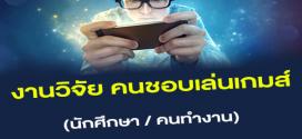 งานวิจัย คนชอบเล่นเกมส์ ผ่าน Smartphone (800-1,400 บาท)
